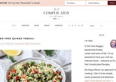 Its not complicated recipes
