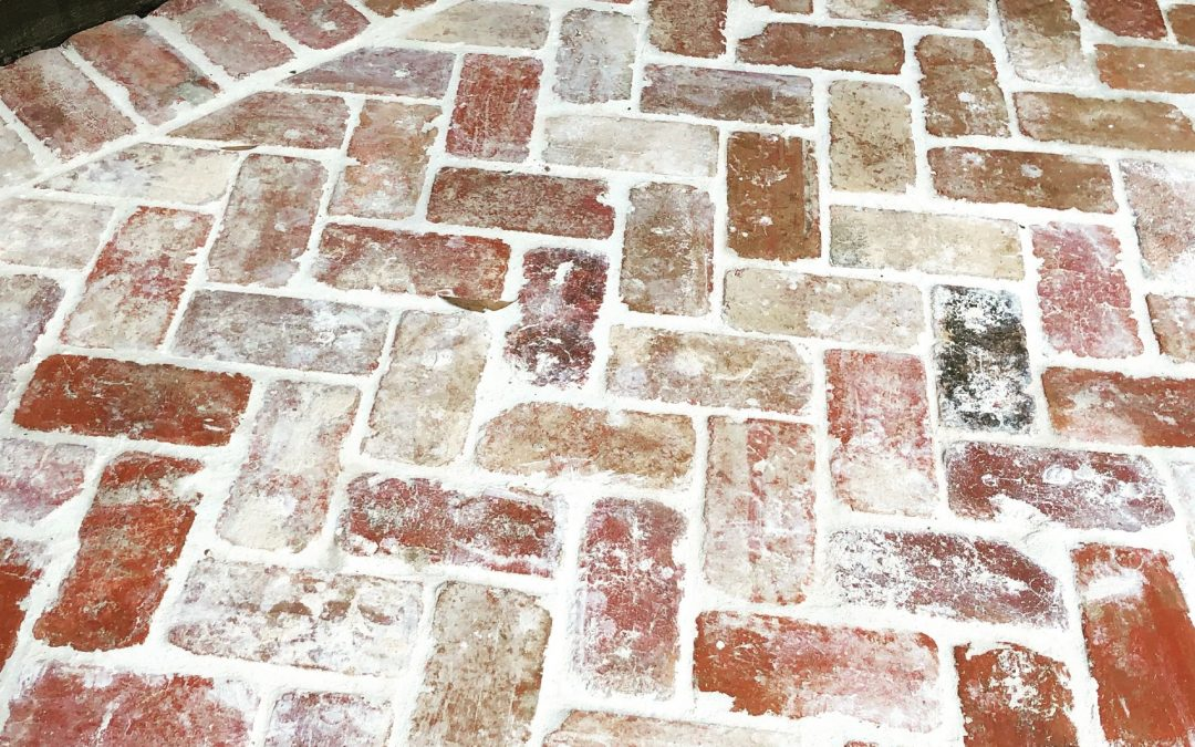 Our front porch makeover with recycled bricks